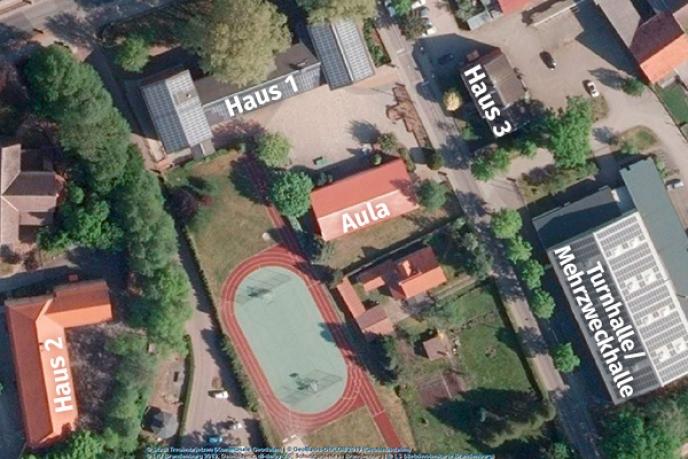 Campus Luftaufnahme (© Geoportal Treuenbrietzen)